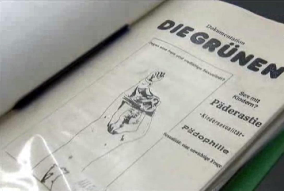 Un document des Verts allemands prônant la pédocriminalité.