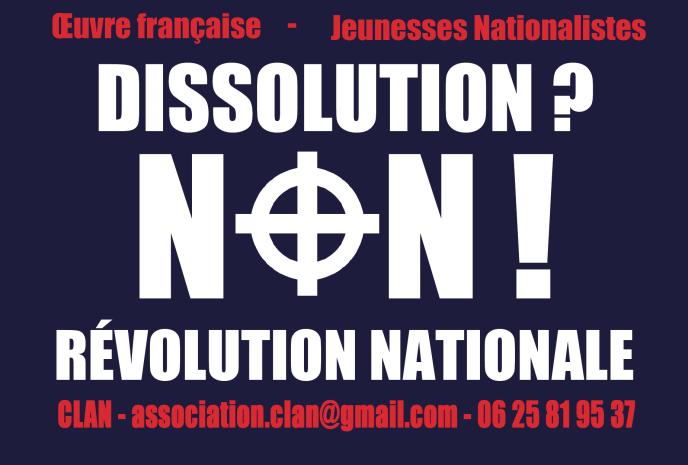 Oeuvre française - Jeunesses nationalistes : Dissolution non ! Révolution: CLAN