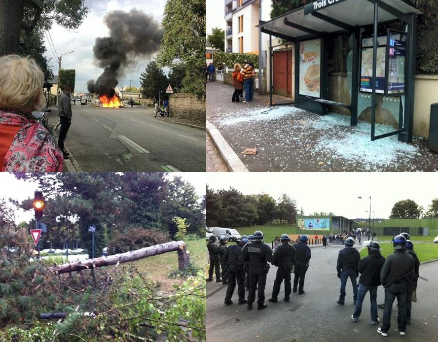 Action de gitans à Rennes en octobre 2013