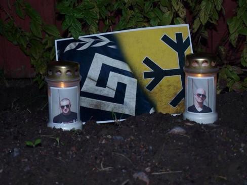 Hommage du SvP aux martyrs de l'Aube dorée.