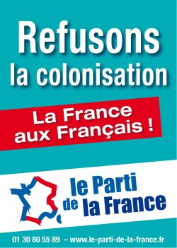 Affiche-refusons-la-colonisation Parti de la France
