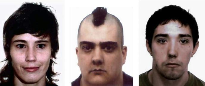 María del Carmen Otero Martínez, Javier Omaña Casanova, Gabriel Rodríguez Cuervo-terroristes-rouges2