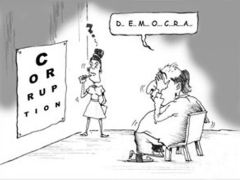 démocratie = corruption