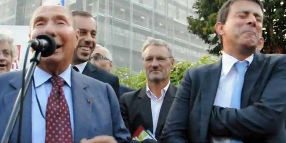 Le nouveau Premier ministre Manuel Valls (PS) et le corrompu Serge Bloch - dit Dassault - (UMP)