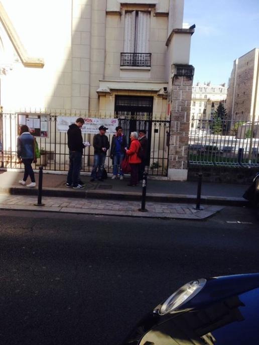 Action Paris nationaliste en faveur de l'église Sainte-Rita en mars 2014.