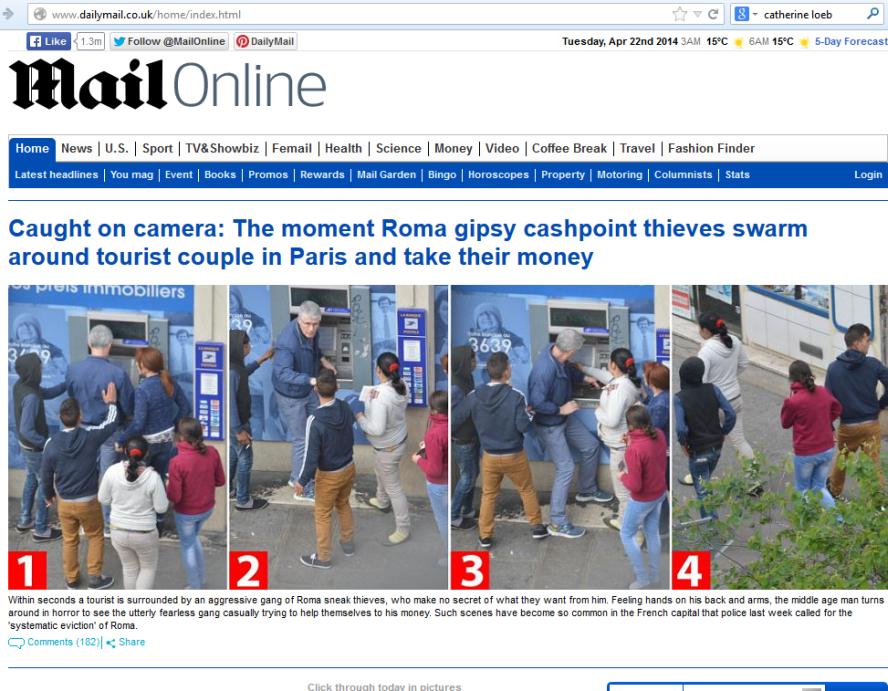 Un problème international: ici la presse anglaise évoque le mal en France.