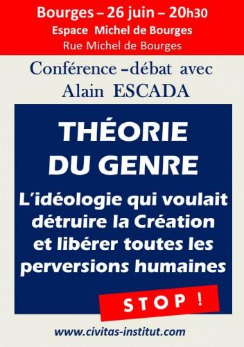 26 juin 2014, Bourges-conférence d'Alain Escada