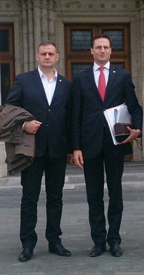 Yvan_Benedetti Rencontre parlement Budapest-Marton Gyongyosi Jobbik
