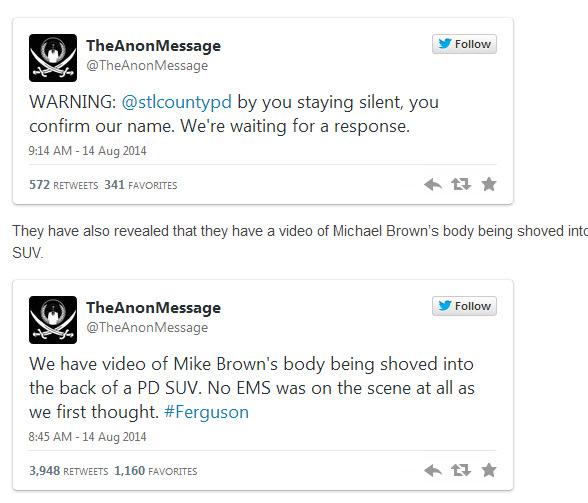 14082014-ferguson-le groupe raciste antiblanc anonymous a denonce un innocent-2
