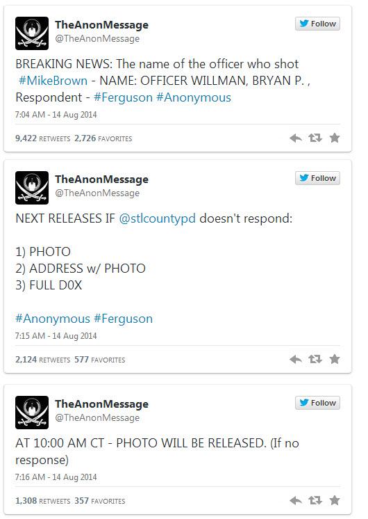 14082014-ferguson-le groupe raciste antiblanc anonymous a denonce un innocent-3