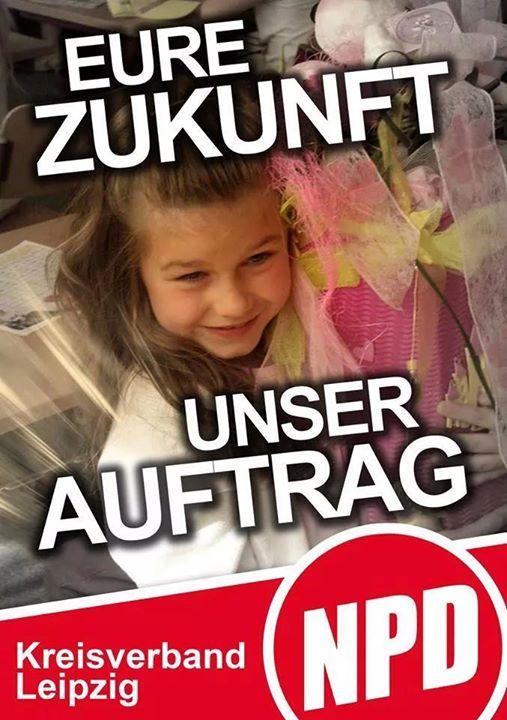 """Visuel du NPD Leipzig : """"Votre avenir - Notre mission"""""""