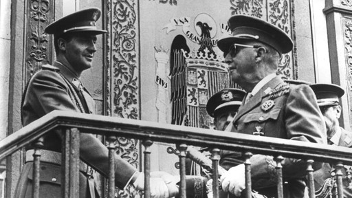 Franco et le futur roi Juan Carlos.