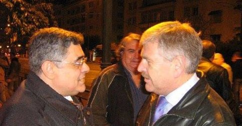 Nikos Michaloliakos et Udo Voïgt.