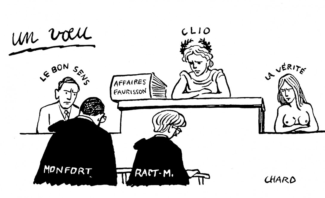 046-B chard revisionnisme monfort faurisson ract-m clio verite bon sens voeu tribunal accuse