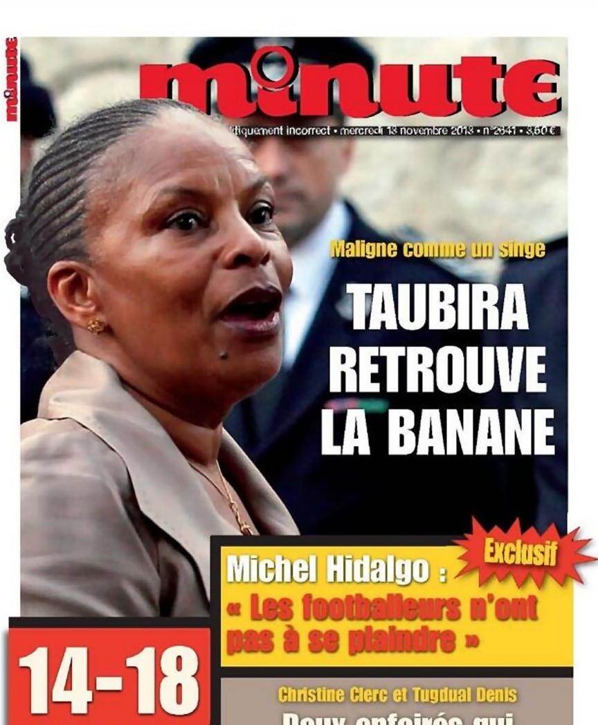 minute-2641--13-novembre-2013-taubira-christiane-maligne_comme_un_singe__retrouve_la_banane