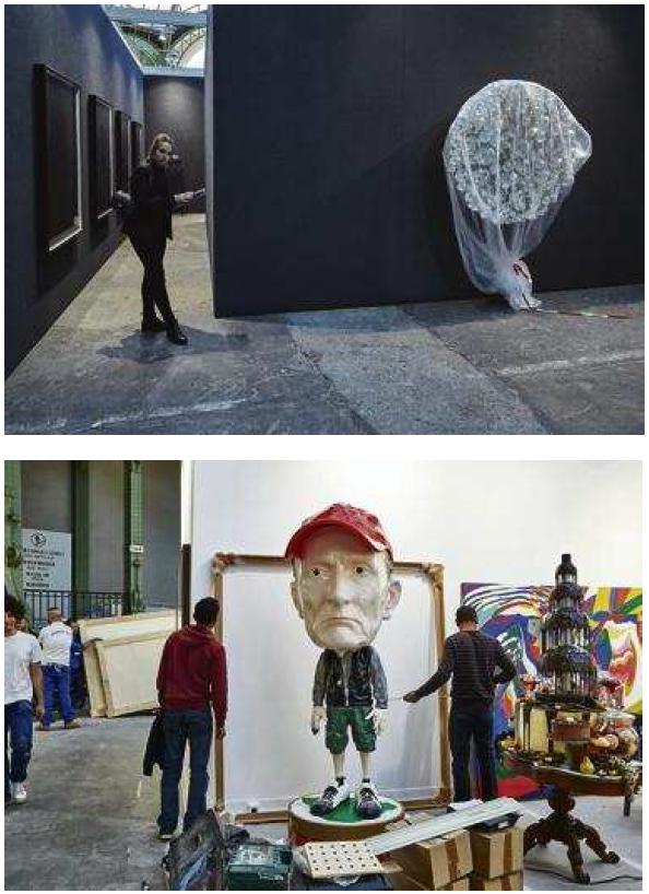 Déchets exposés lors de la FIAC (Foire internationale d'art contemporain) de 2014