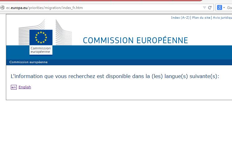 """Officiellement, """"trois des langues officielles de l'Union sont utilisées comme langues de travail au sein de la Commission : l'anglais, le français et l'allemand""""."""