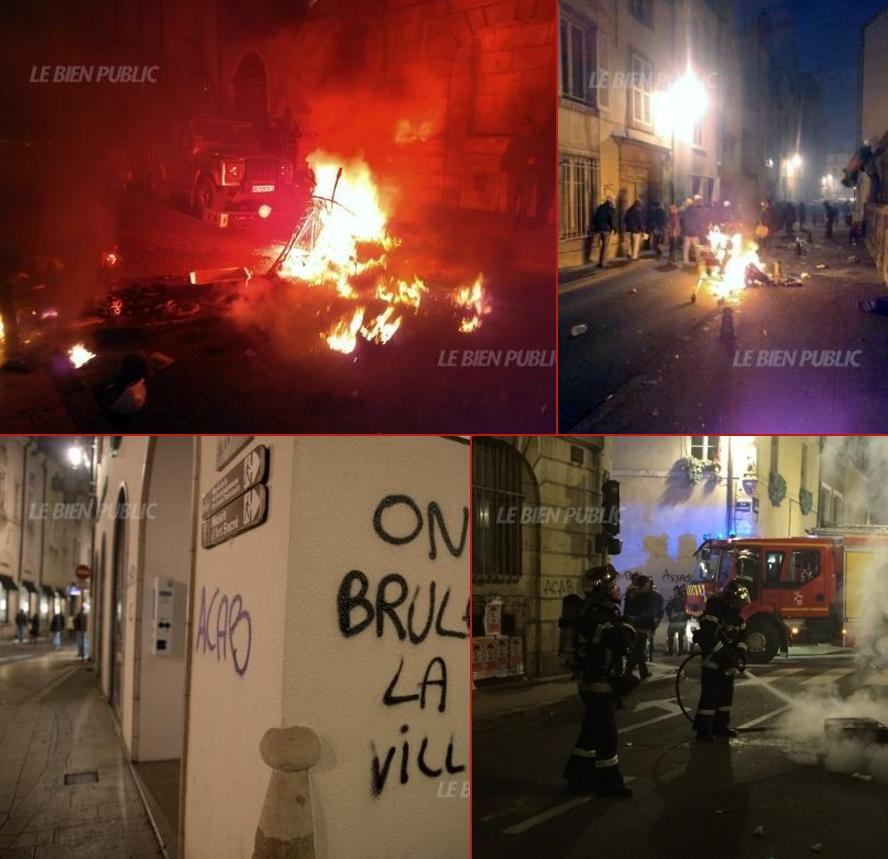 Émeutes à Dijon le 1er novembre 2014.