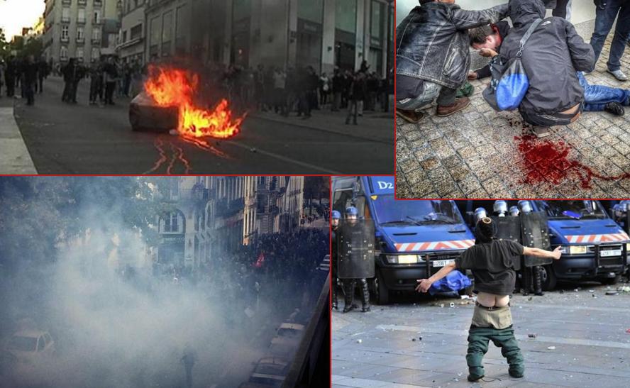 Émeutes de l'extrême gauche à Nantes le 1er novembre 2014.