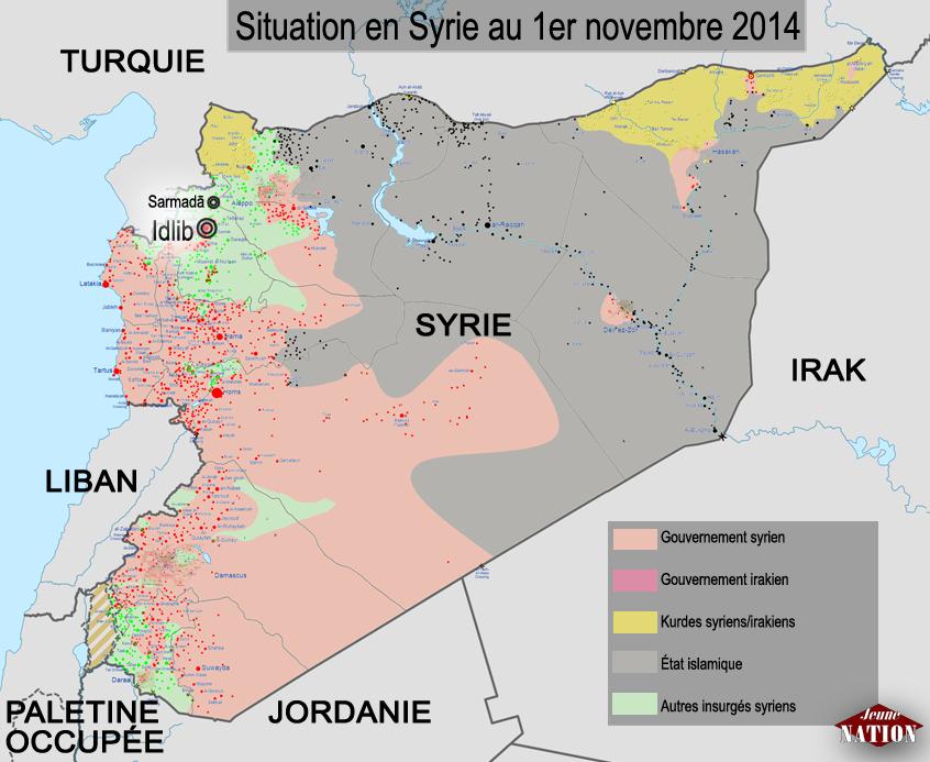 Situation en Syrie au 1er novembre 2014