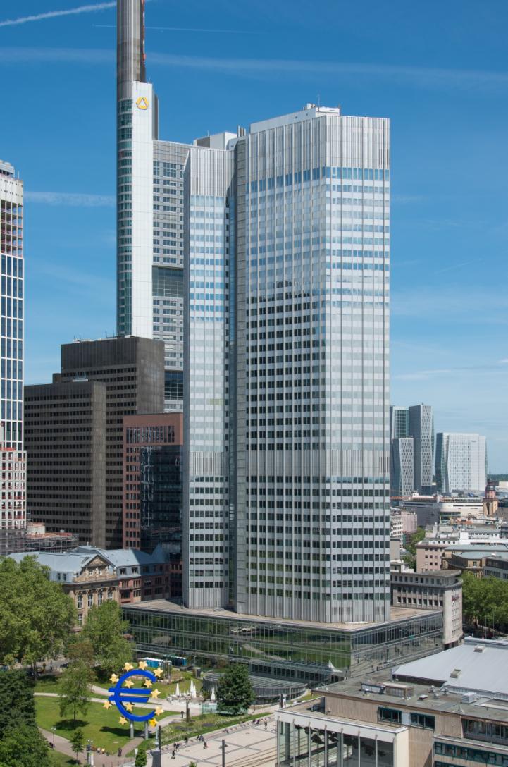 L'Eurotower, ancien siège de la Banque centrale européenne