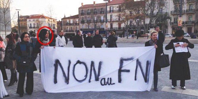 Quand Fatima Allaoui manifestait contre le FN. C'était il y a longtemps en... 2014.