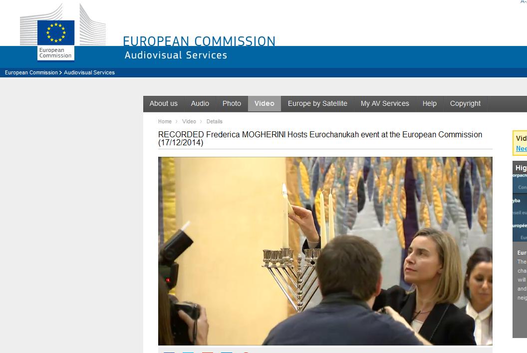 Il y a quelques semaines, Federica Mogherini organisait une célébration juive à l'intérieure même des locaux du Parlement européen.