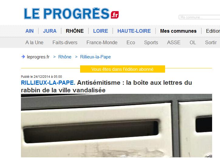 le_progres_boite_a-lettre_rabbin-antisemitisme_rilleux-la-pape.png