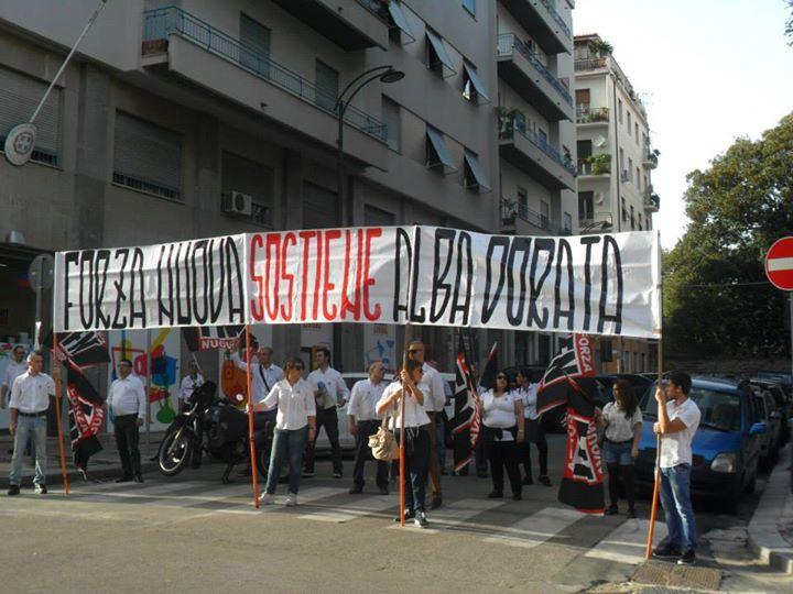 Manifestation de soutien de Forza Nuova à l'Aube dorée