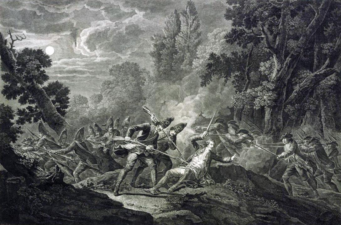 Mort chevalier d'Assas-Pierre Laurent