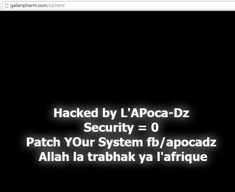 Un autre site, sans aspect politique ou religieux, attaqué par le pirate