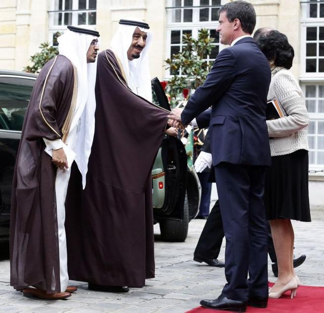Le prince Salman et Manuel Valls à la fin de l'été 2014.