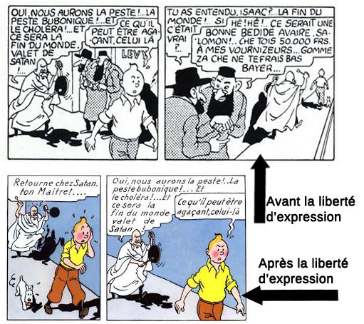 étoile mystérieuse-blumenstein-censure-Hergé-