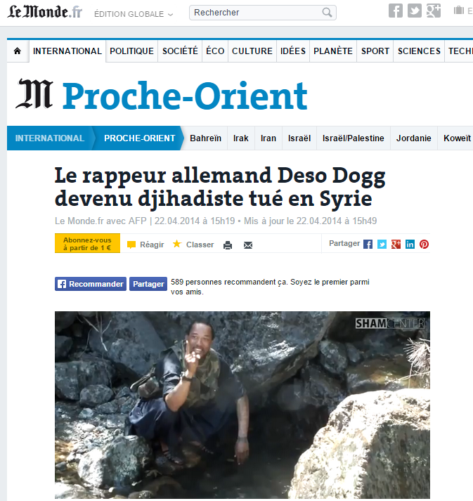 Deso Dogg désinformation mort Le Monde