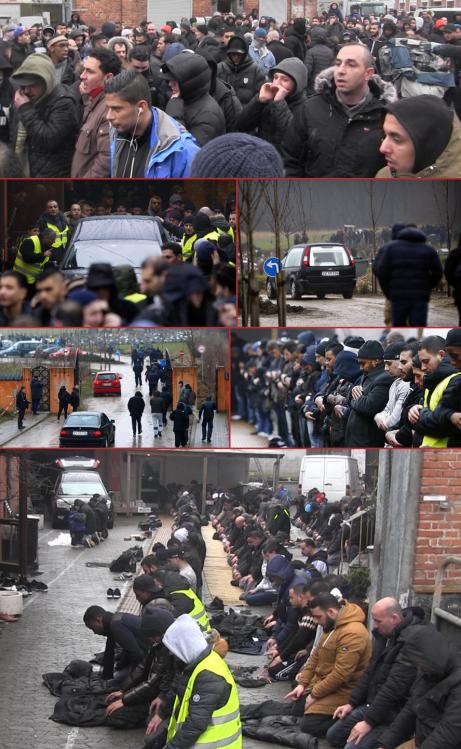 Omar El-Hussein Plusieurs centaines d'islamistes rendent hommage au tueur de Copenhague