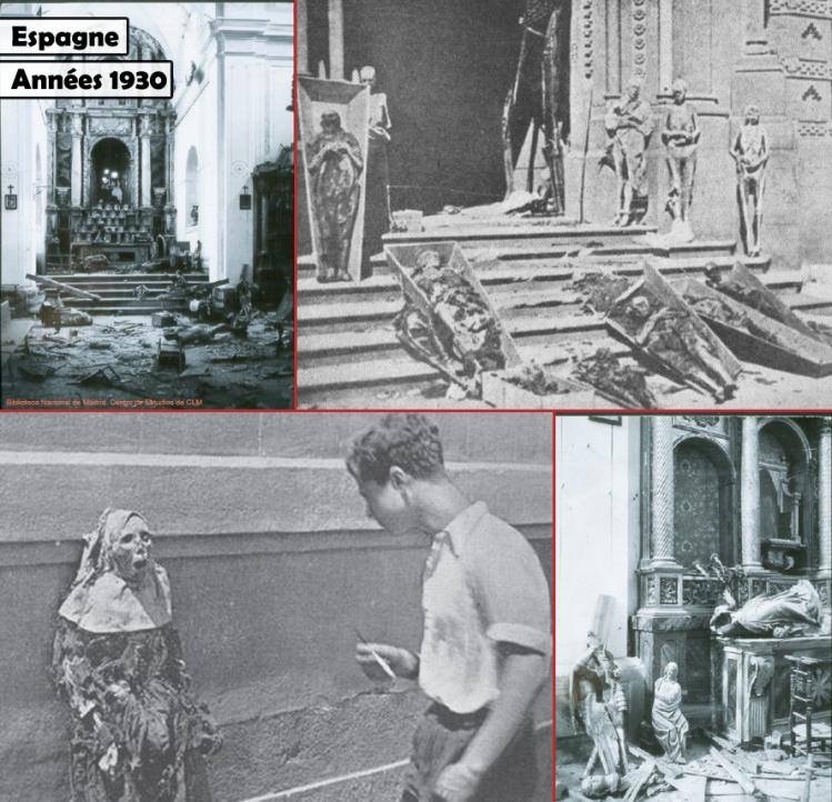 Profanation, destruction, pillage : les Brigades internationales dont certaines racailles osent se réclamer aujourd'hui étaient l'État islamique au coeur de l'Europe durant les années 1930.