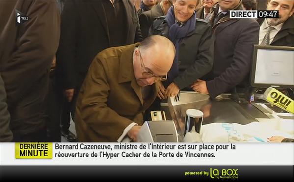 Bernard Cazeneuve - Hypercasher Carte bancaire pas casher ne passe pas