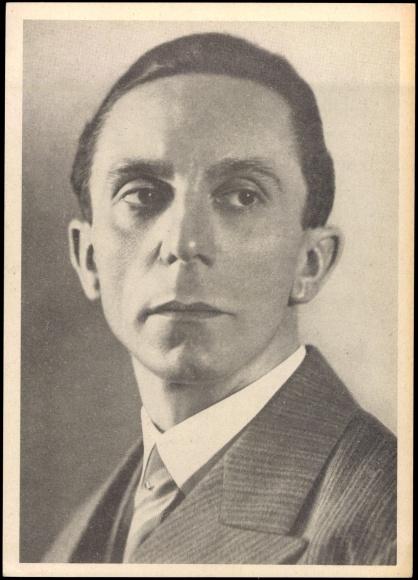 Un portrait de Joseph Goebbels.