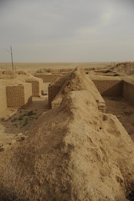Un temple, situé aujourd'hui sur le site de Nemrod