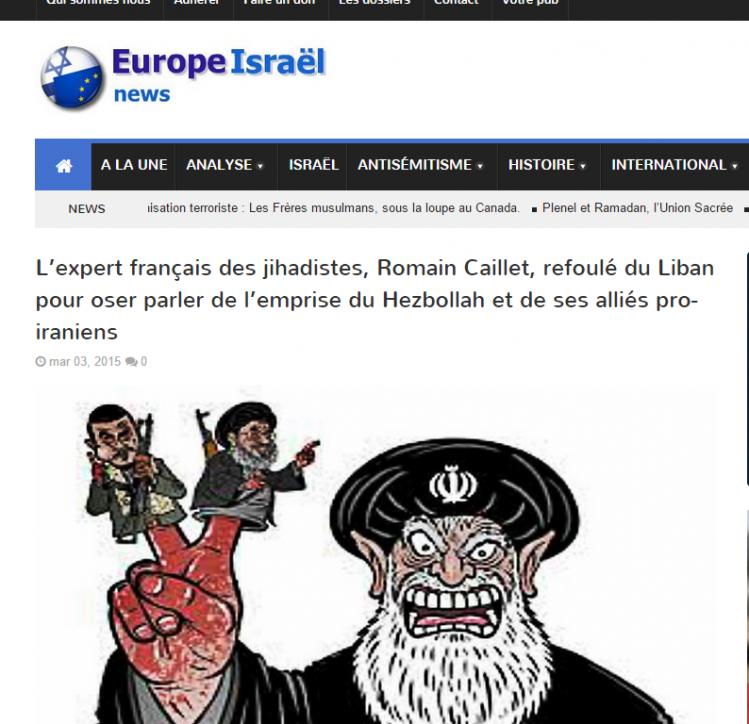 Accusé de soutenir les égorgeurs, Romain Caillet bénéficie du soutien curieux des sites extrémistes juifs.