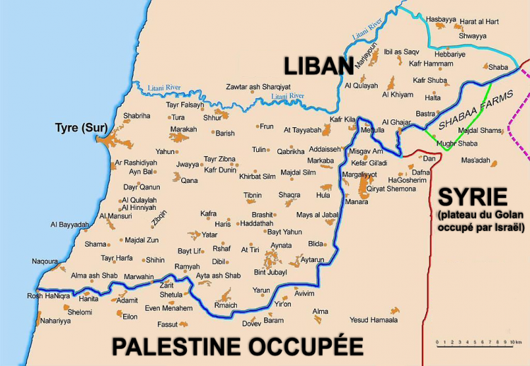 liban-zone-frontière sud