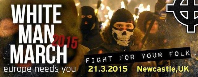 white man march 2015 newcastle