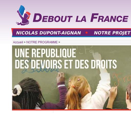 Debout la France : un arrière-goût de République