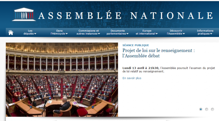 Présentation mensongère sur le site de l'Assemblée nationale
