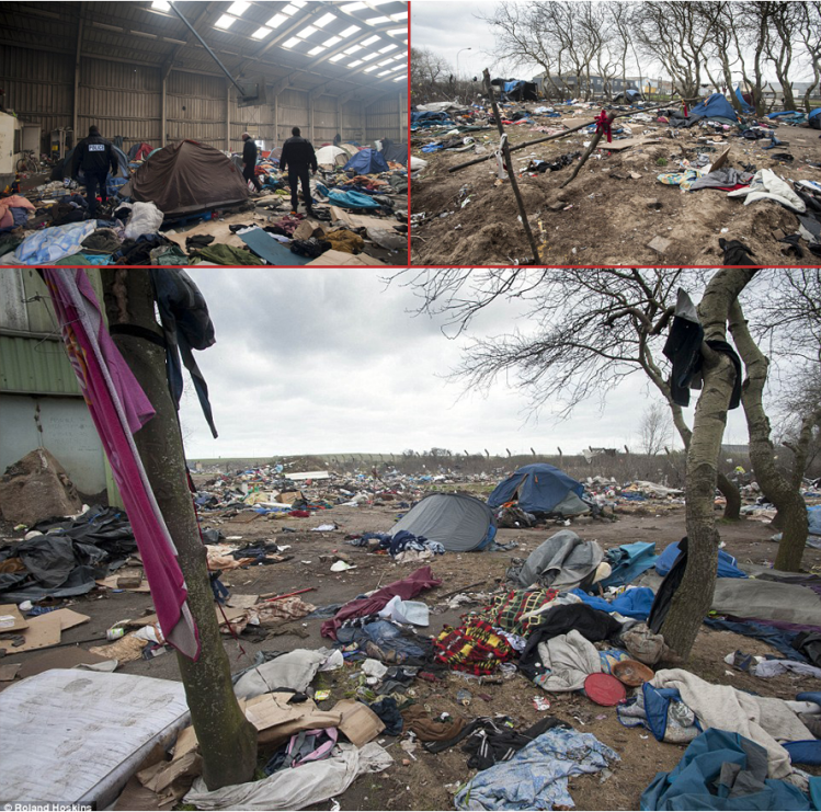 calais invasion migrants destructions pollutions