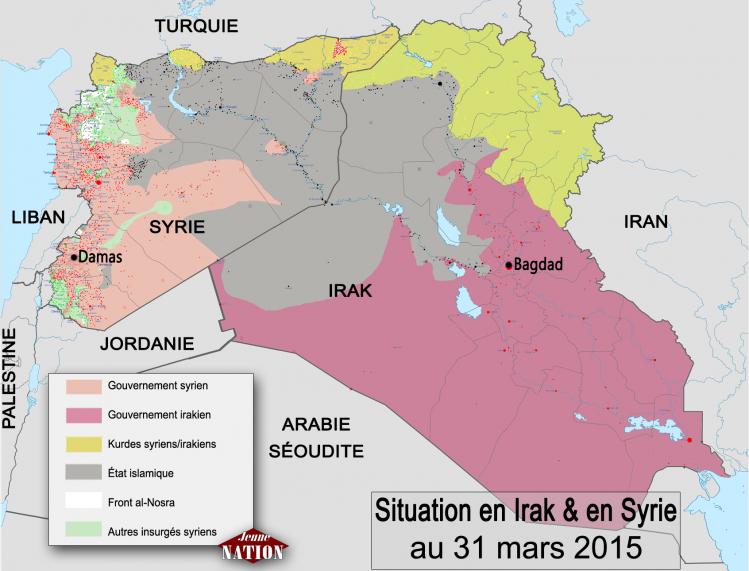 Situation en Irak et en Syrie au 31 mars 2015