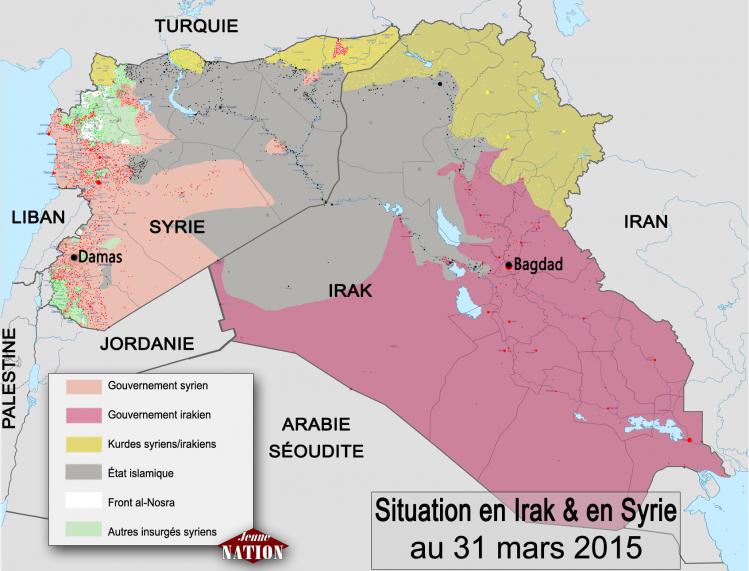 Situation en Syrie et en Irak à la fin du mois d'avril 2015