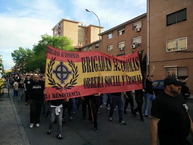 Acto del 1 de Mayo de Acción Nacional Revolucionaria, en el barrio de Canillejas ( Madrid )-3