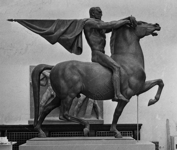 le porteur de drapeau à cheval Joseph Thorak