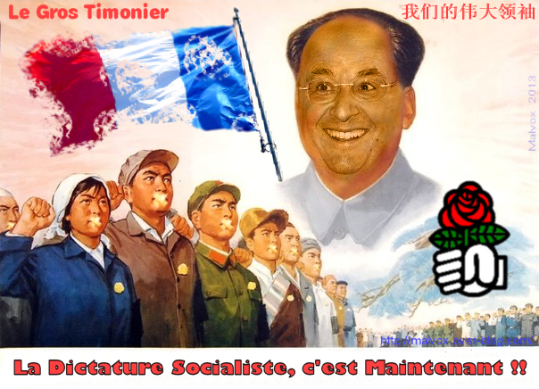 François Mao Zedong Hollande - le gros Timonier Dictature socialiste Mao